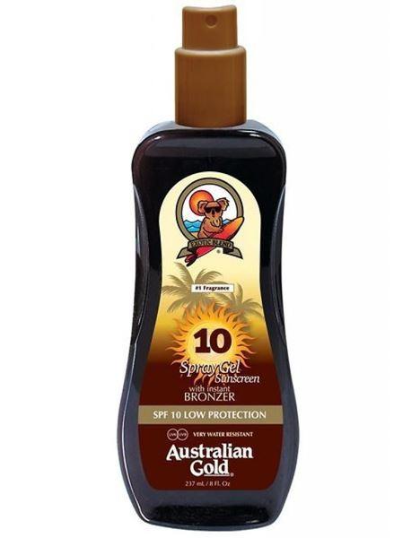 Immagine di Spray gel Spf 10 con effetto bronze, 237 ml Australian Gold