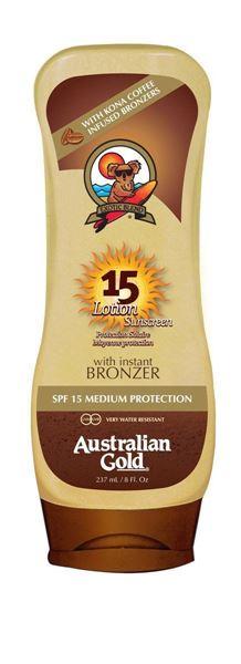 Immagine di Spf 15 Lozione con Kona Coffee ed effetto bronze, 237 ml Australian Gold