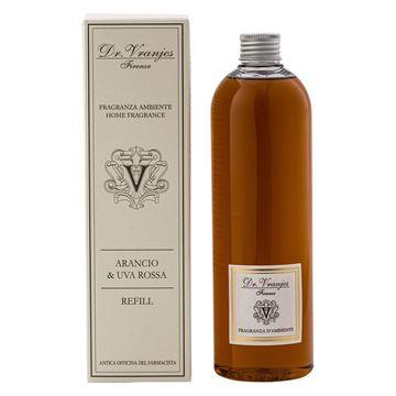 Immagine di Arancio & Uva Rossa Refill 500ml Fragranza Ambiente con bastoncini Dr. Vranjes Firenze